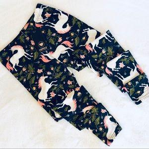 3/$30 Unicorn 🦄 blue and green leggings